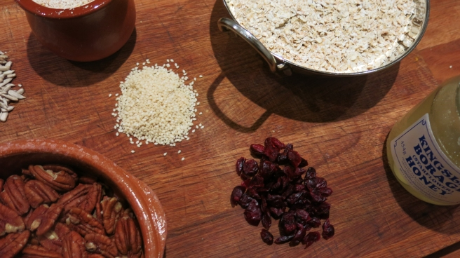 Ingredients for oat granola
